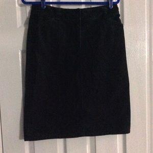 Ladies Style & CO Black Corduroy Skirt Size 10